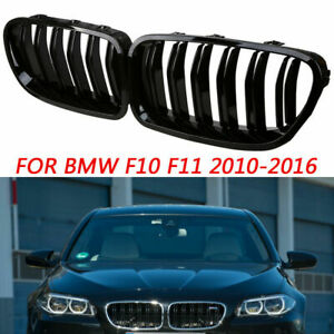 5 Series F10 F11 F18 Kidney Grille Gloss Black 2010+ Car Parts Automotive