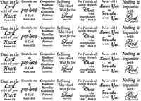 Bible Verse Verses Black Or White 5 X 7 Card Fused Glass Decals