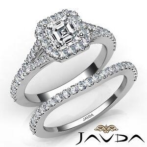 2-7ctw-Separado-Pata-Halo-Pave-Novia-Asscher-Anillo-de-Compromiso-Diamante-GIA