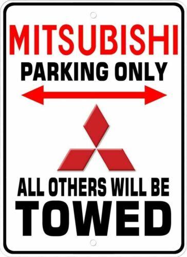 Mitsubishi Parking Only Novelty Aluminum Sign