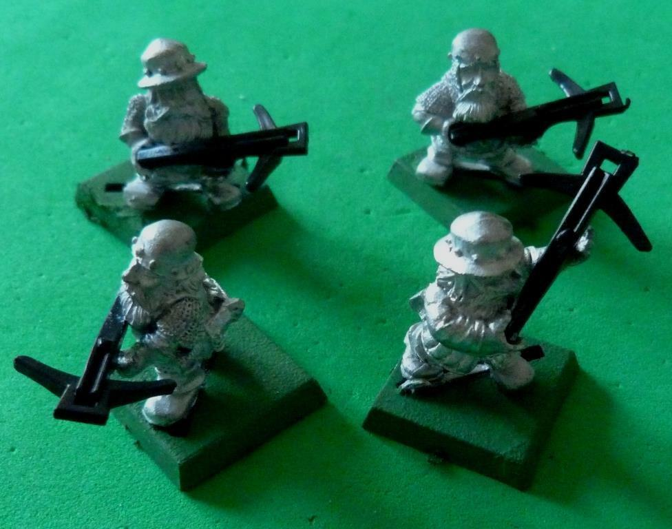Games Workshop Imperial Dwarf Crossbow Men x 4