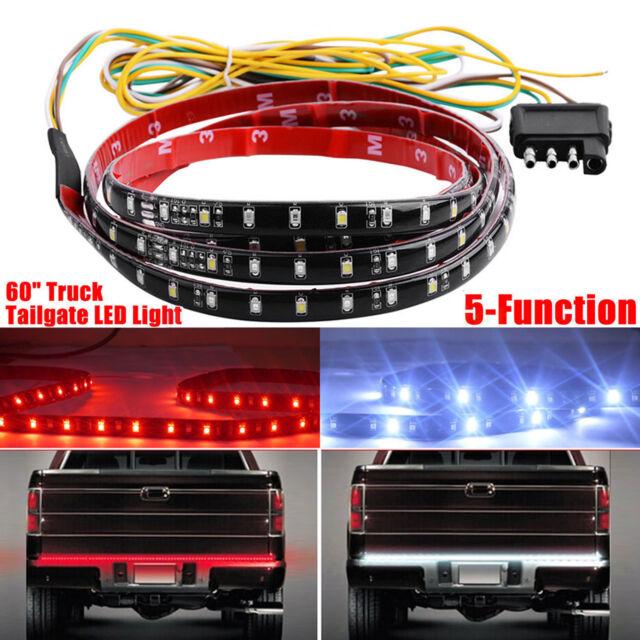 60 Inch Truck Led Tailgate Light Bar Strip 2 Row Red White Waterproof Running
