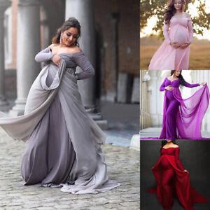 de4319c5a83d4 Image is loading Pregnant-Women-Long-Maxi-Dresses-Maternity -Gown-Photography-