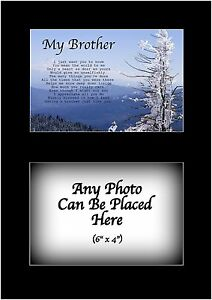 Details Zu My Brother Poem Personalised With Any Photo Birthday Fathers Day Christmas Gift