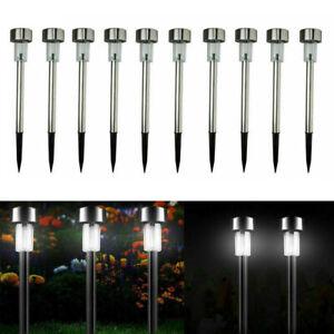 10x-LED-Solar-Gartenleuchte-Solarleuchte-Solarlampen-Lampe-Beleuchtung-DE