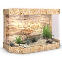 Terrarium Holz Panorama Reptil Schildkröte Glas Schiebetür 120x80x60cm