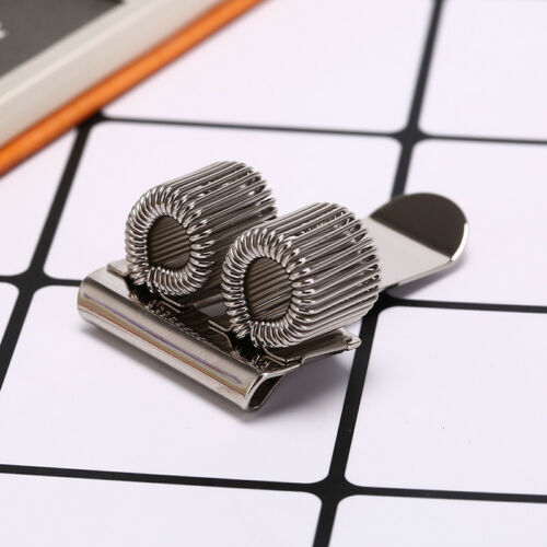 2 hole silver metal pen holder with pocket clip doctors nurse uniform pen hold X