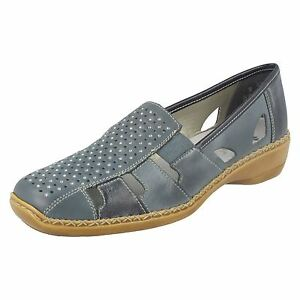 Rieker pelle casual 41340 in Ladies Scarpe blu wFqUdxO8