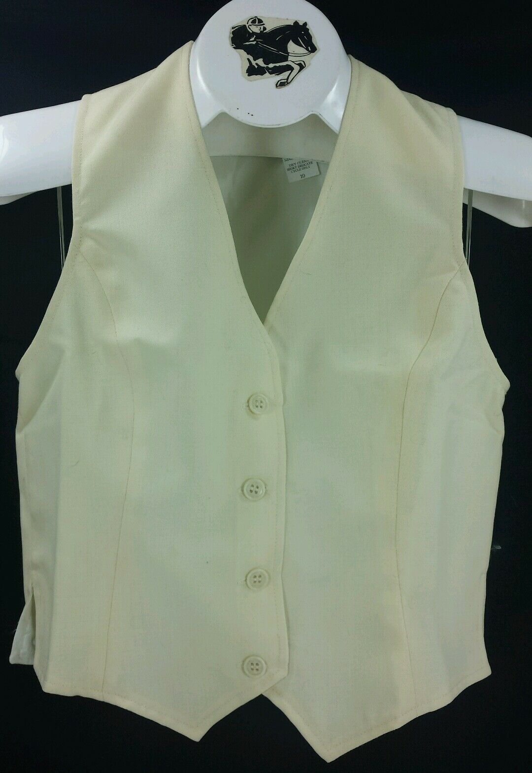 Reed  Hill Ladies Saddleseat Vest Cream Polyester Blend - USA  popular