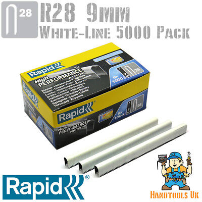 Rapid R28 10mm High Performance Cable Staples 5 x 1000 = 5000