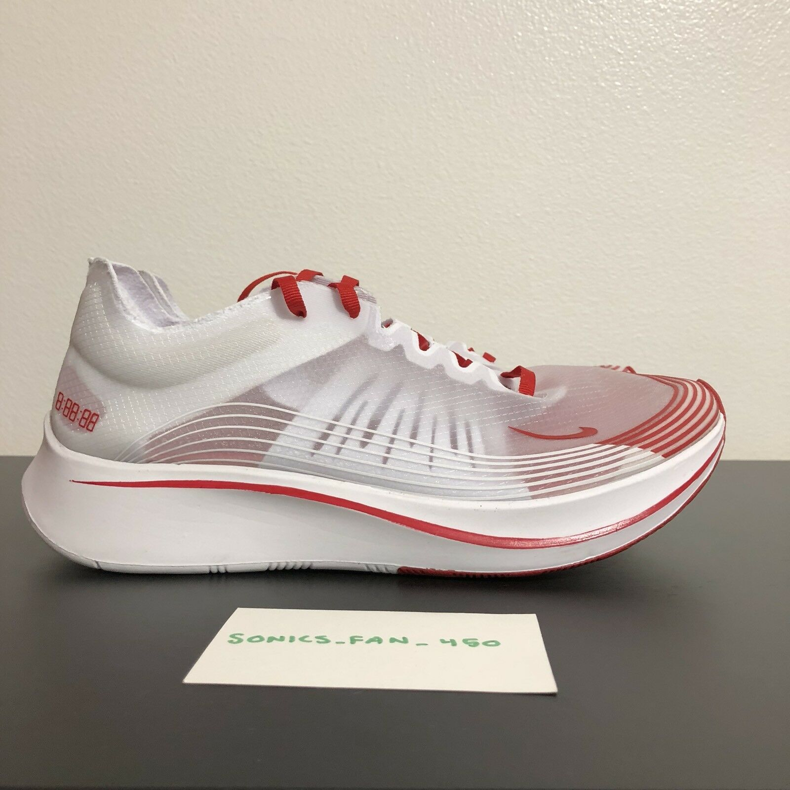 MEN'S NIKE ZOOM FLY SP RUNNING SHOES TOKYO WHITE RED AJ9282-100 SIZE 8.5