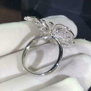 Creative-Sapphire-CZ-Butterfly-Ring-925-Silber-Damen-Hochzeit-Geschenke-Sch-O2X8