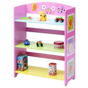 Details about Baby Toddler Child Bookshelf Bookcase Cabinet Shelf w/3  Shelves Corner Bedroom