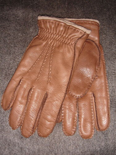 Brooks Brothers DEERSKIN CASHMERE LINED Men's Gloves. M.
