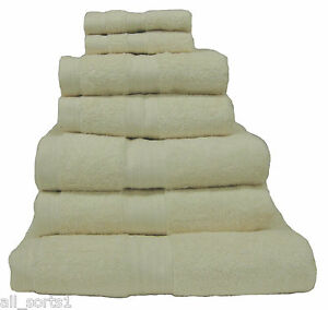 Cream 100 Egyptian Cotton Luxury Hotel High Quality Towels 8 Piece
