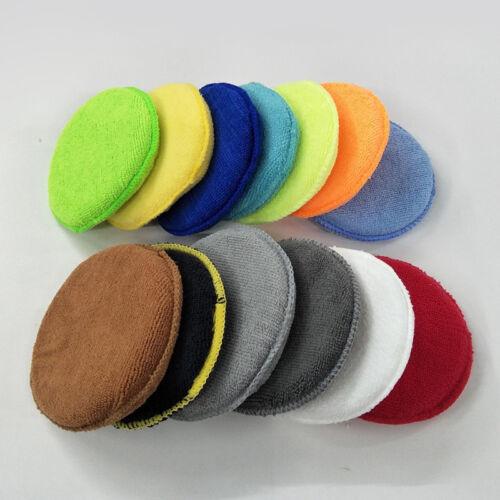 Multi-color 2pcs Microfiber Premium Car Wax Applicator Pad Polishing Sponge Soft