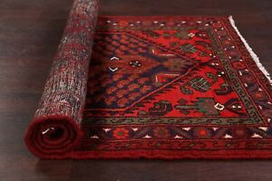 NEW-Tribal-Geometric-Hamedan-Area-Rug-Wool-Hand-knotted-Oriental-Carpet-3x5-ft
