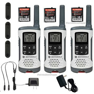 Motorola Talkabout T260TP Walkie Talkie 3 Pack 25 Mile Two Way Radios NOAA | eBay