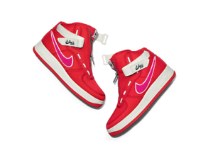 SHIP NOW Emotionally Unavailable Nike Air Force 1 Red Pink AV5840-600