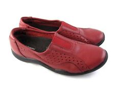 Hush Puppies 9.5M 41.5 red leather slip ons womens ladies flats loafers shoes