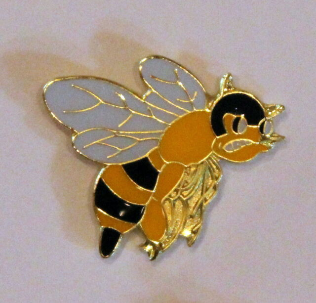 21e0a23337a New Angry Bumble Bee Wasp Lapel Hat Pin Queen Buzz Tie Tack Black Yellow  Jacket