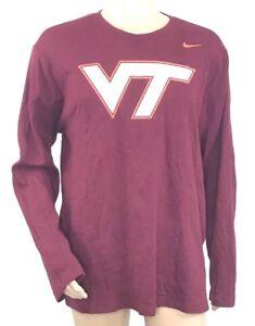 Nike Mens Virginia Tech Hokies Thermal Long Sleeve T-Shirt Maroon ... 891919d9c