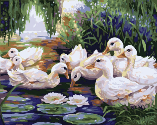 Lovely Animals DIY Painting By Numbers Kit Acrylic Handpainted Oil Art Wall Pics