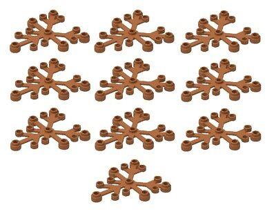 ☀️NEW LEGO 10x Bright Light Orange Plant 6 x 5 Leaf Leaves Tree CITY Forest Fall