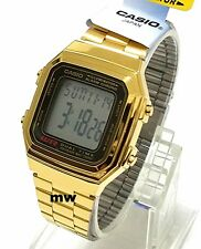 Casio Gold Retro Vintage Classic Alarm Digital Unisex Watch A178 A-178WGA-1A New