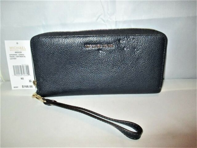 2a6421243566 Michael Kors Mercer Travel Leather Zip-Around Continental Wristlet Wallet  $168