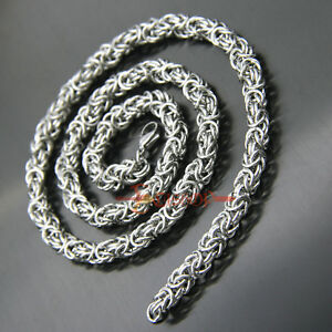 stainless steel turkish round chain maille necklace chainmaille