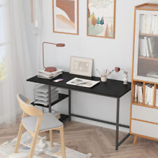 Home Office Computer Gaming Desk With Storage Shelves Pc Laptop Workstation 55