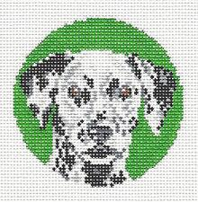 *New* Needle Crossings Dalmatian Dog handpainted Needlepoint Canvas Ornament