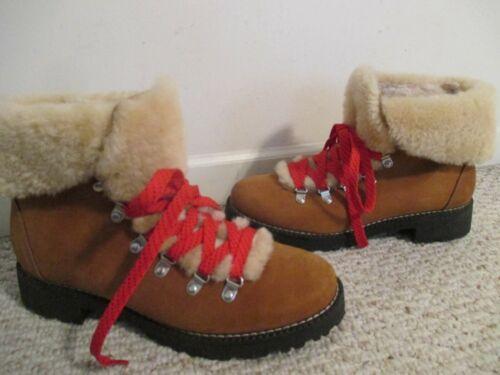 J Crew Nordic Winter Boots Size 10 Pecan Glaze Hik