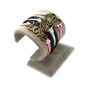 Bracelet infini Love arbre coeur infinity rose noir