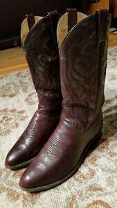 Dan Post Milwaukee Black Cherry Leather R-Toe Boots