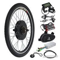 26 Electric Bicycle Rear Wheel Conversion Kit Lcd Meter E Bike Motor Hub