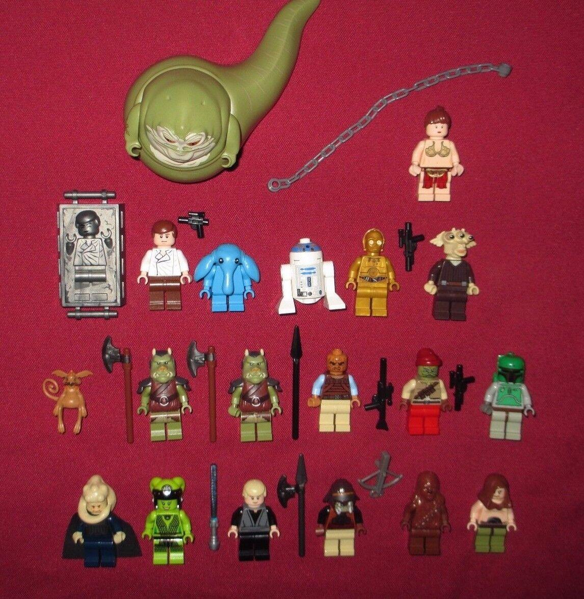 LEGO LEGO LEGO Star Wars minifigure LOT Jabba,Leia,Boba,Lando,Bib,C-3PO,Kithaba,Max Rebo + 9bd3ed