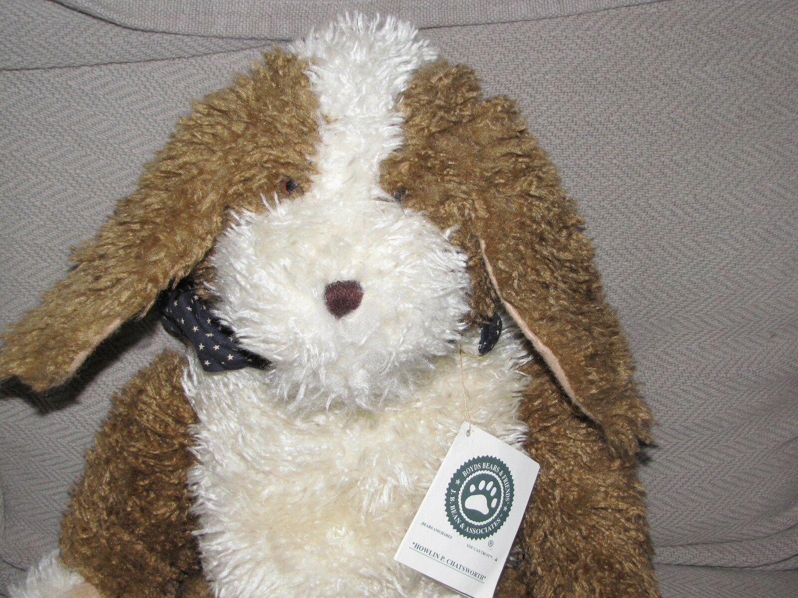 BOYDS BOYD'S BEARS STUFFED PLUSH DOG HOWLIN P CHATSWORTH HAND HAND HAND PUPPET braun CREAM 6f50aa