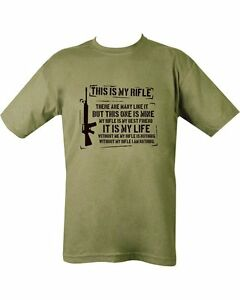 full metal jacket t shirt my rifle military funny fancy. Black Bedroom Furniture Sets. Home Design Ideas