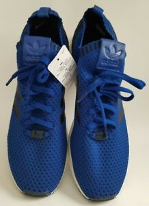 368b06c1ae1e7 New ADIDAS Originals ZX Flux PK Primeknit Royal Blue Sneaker Shoes ...