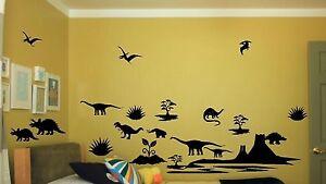 Dinosaur wall sticker 20 piece set art decal decor design for Best 20 jurassic park wall decal