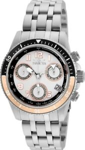 Invicta-24638-Pro-Diver-Women-039-s-40mm-Chronograph-Stainless-Steel-White-Dial