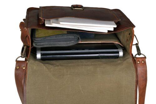 Nouveau Marron Homme en cuir véritable grand 15.6 Housse pour ordinateur portable pour Ordinateur Sac d/'épaule