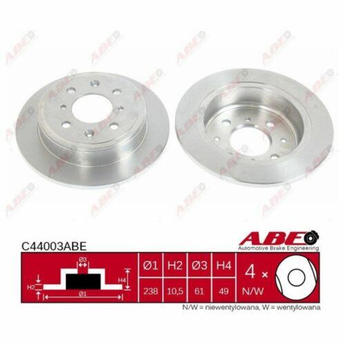 Disque de frein 1 Unités ABE c44003abe