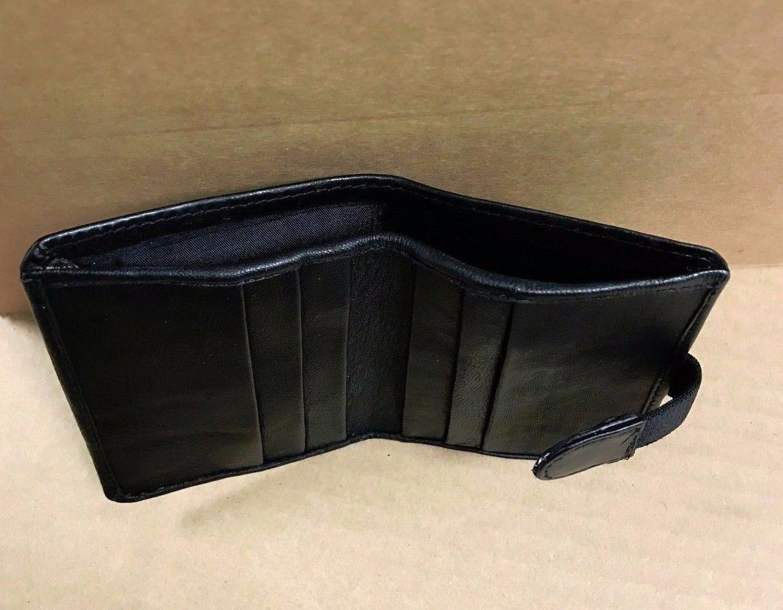 Bifold Men's/Women Plain Black Credit Cards Thin ID Holder Wallet Case