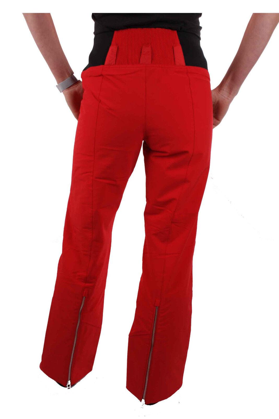 Spyder Donna Donna Donna Pantaloni da Sci Rubino Cucita Vestibilità Rosso Erl 38-40 156726