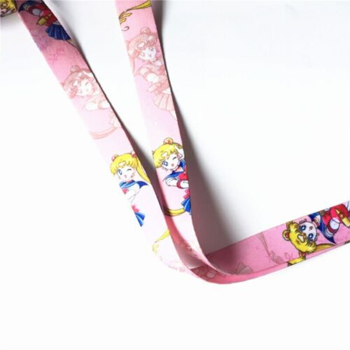 Sailor Moon Neck Straps Keyring Keychain Key Lanyard Badge ID Cards Holders