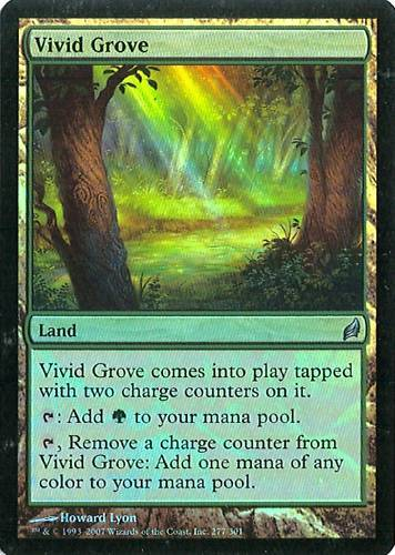 Vivid Grove NM Lorwyn Foil MTG