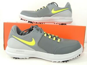 7c899e370e890 Details about Nike Mens Air Zoom Accurate Golf Shoes Dark Grey Volt White  909723-001 Size 11